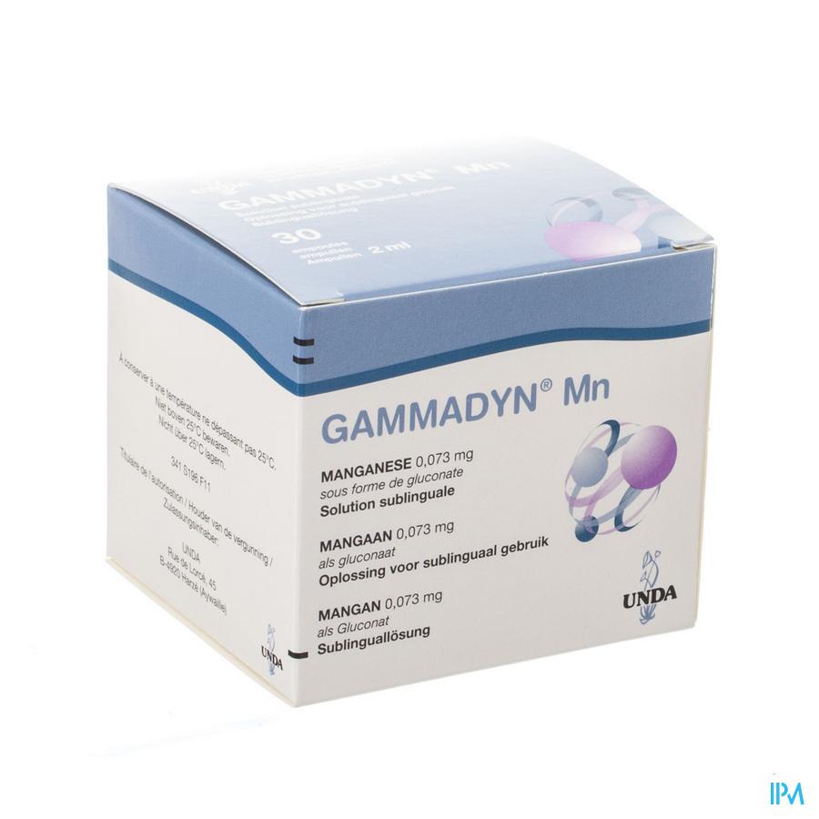 Gammadyn Amp 30 X 2ml Mn Unda