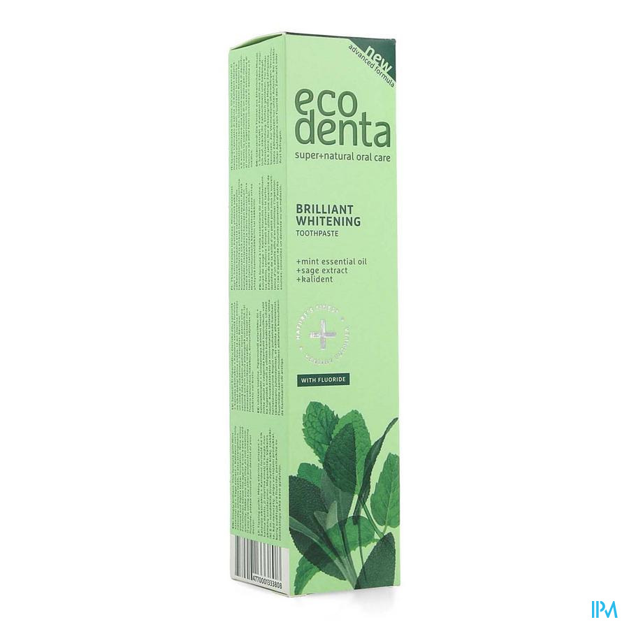 Eco Denta Whitening Tandpasta Ess. Olie Munt 100ml