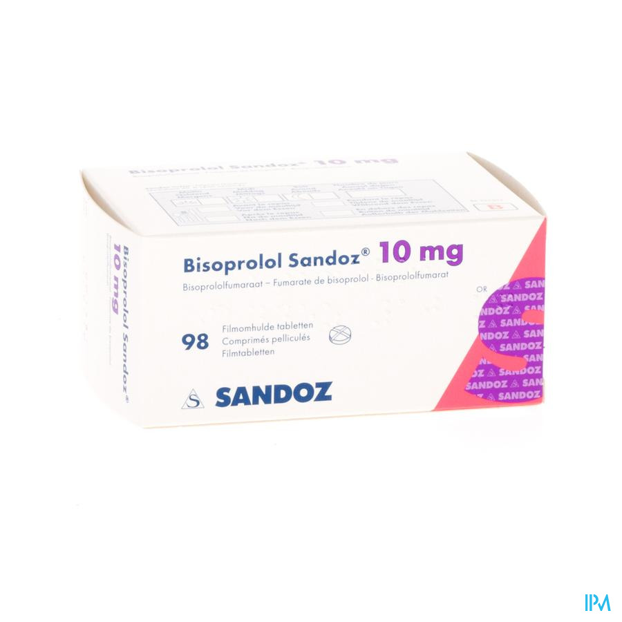 Bisoprolol Sandoz 10 mg Tabletten 98 X 10 mg