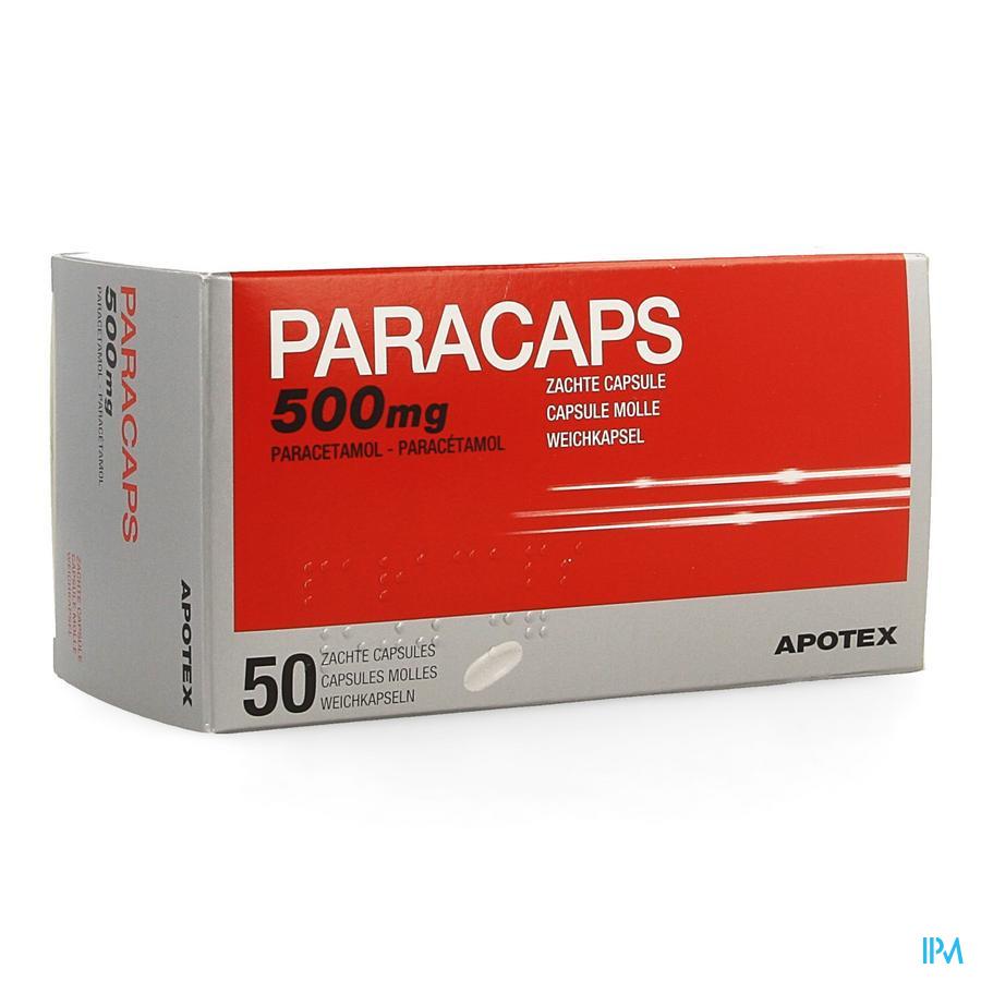 Paracaps 500mg Caps Molles 50 X 500mg