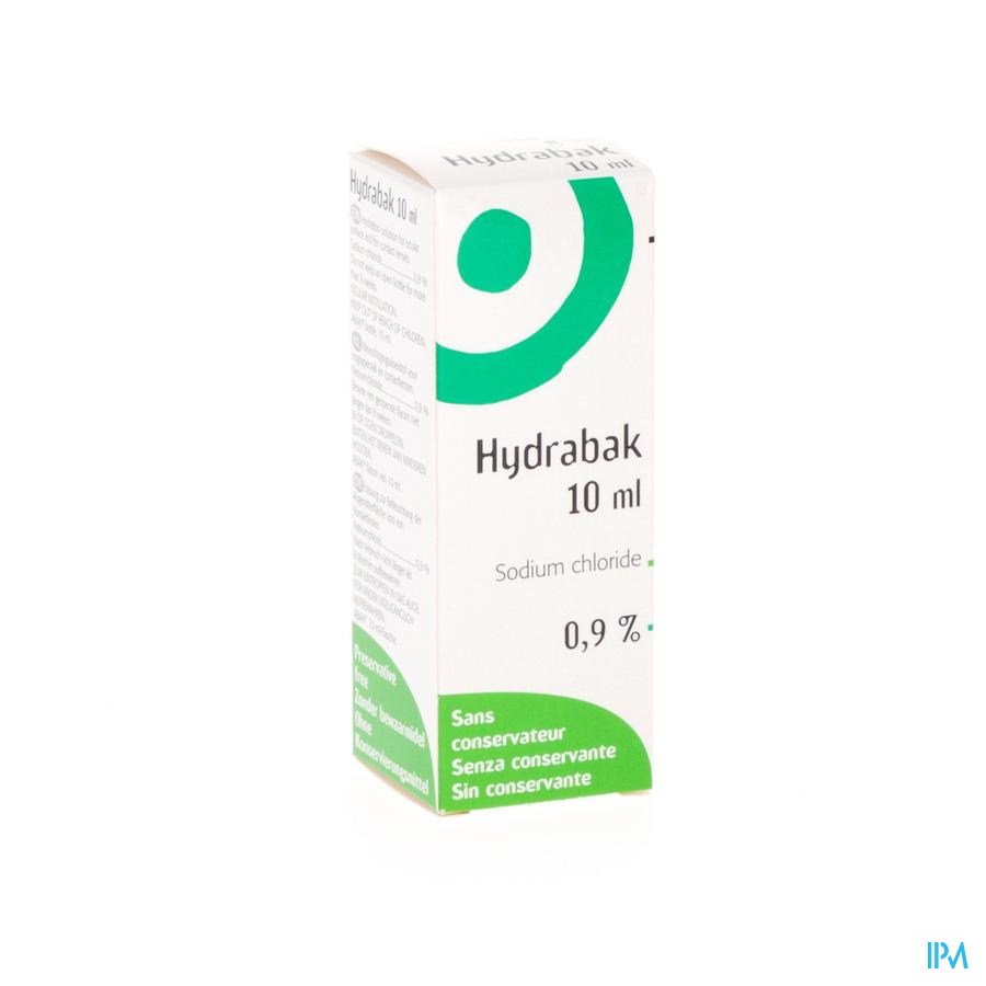 Hydrabak Collyre Hydratante Nacl S/conservat. 10ml