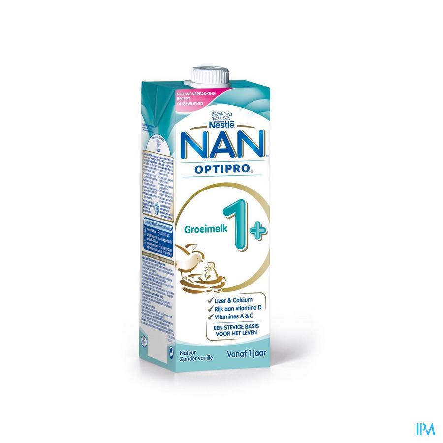 Nan Optipro Groeimelk Tetra 1l 1+