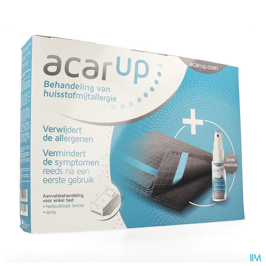 Afbeelding Acar Up Huisstofmijt Kit Mono met 1 Herbruikbaar Textiel voor een Enkelvoudig Bed + Spray 50 ml.