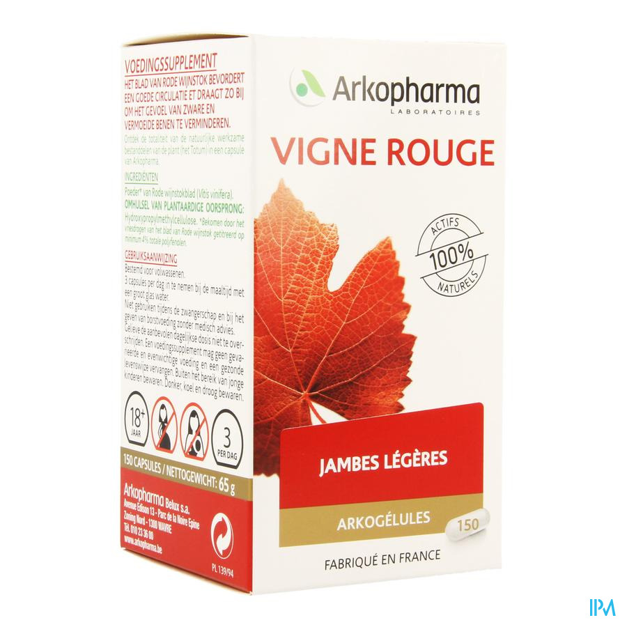 Arkogelules Vitiven Vigne Rouge Caps 150