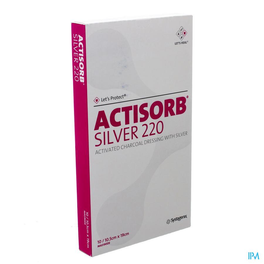Actisorb Silver 220 Cp 19,0x10,5cm 10 Mas190de