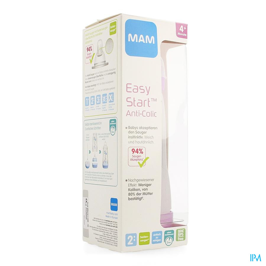 Mam Zuigfles Easy Start A/colic 320ml Meisje