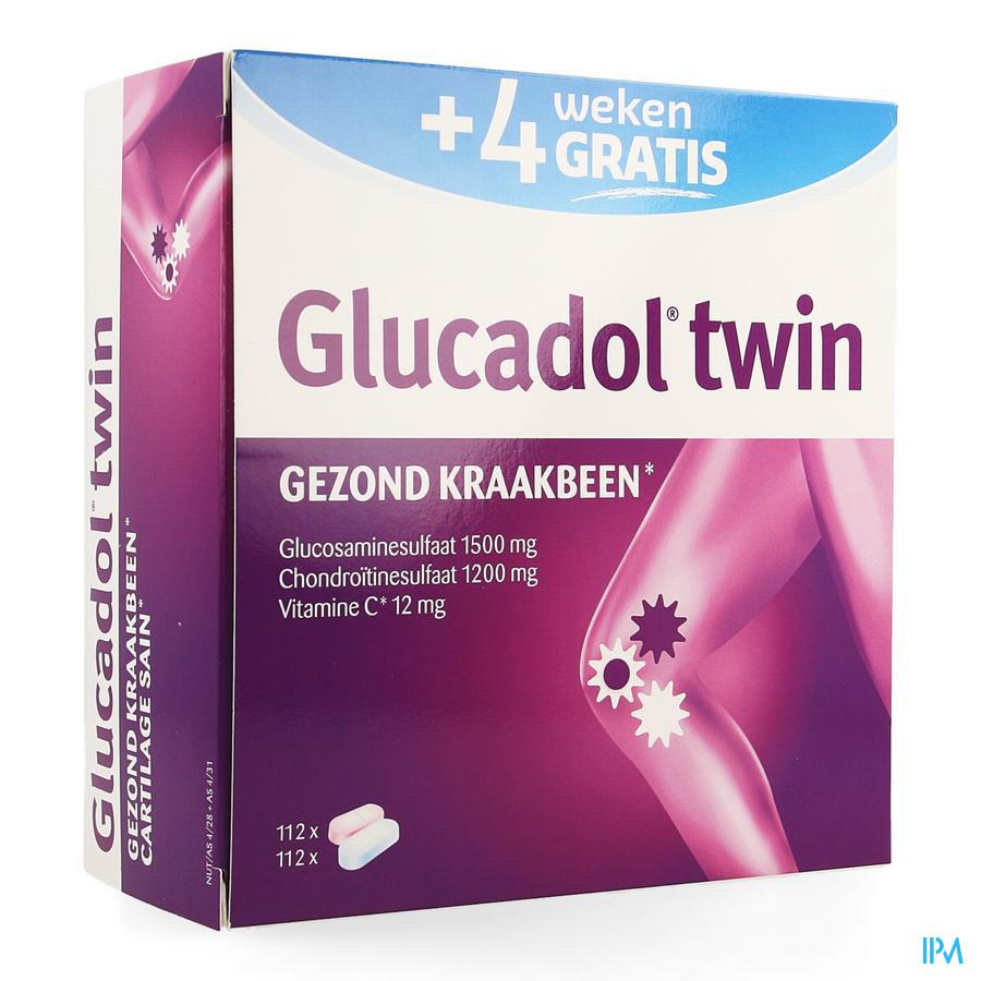 Afbeelding Glucadol Twin 112 tabl PROMO 4 weken gratis.