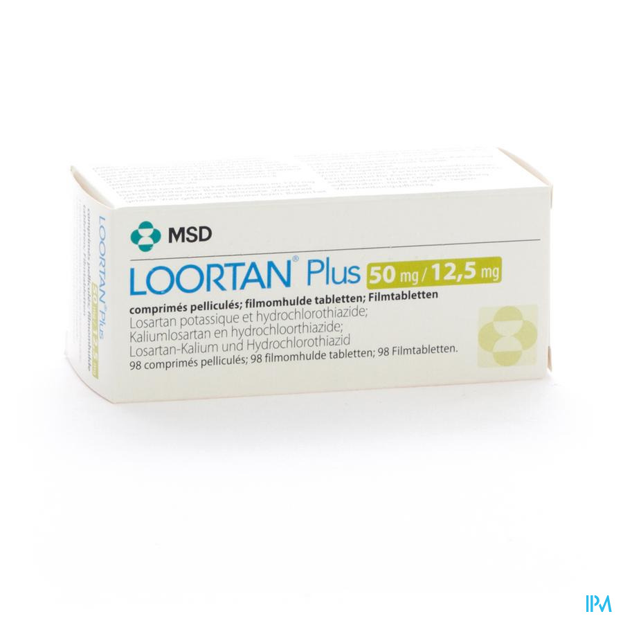 Loortan Plus 50mg/12,5mg Comp Pell 98
