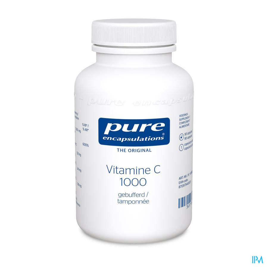 Pure Encapsulations Vit C 1000 Gebufferd Caps 90