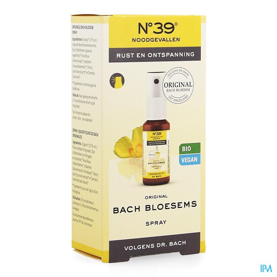 Bachbloesem Bio Nr 39 Noodgevallen Spray 20ml
