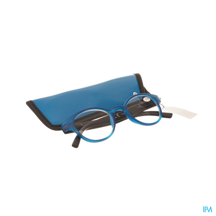 Pharmaglasses Leesbril Round +3.00 Blue/black