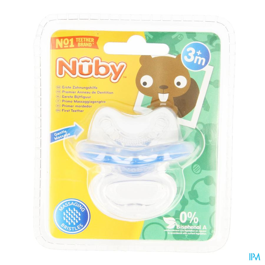 Nûby Sucette de dentition silicone Gum-Eez™ - 0m+