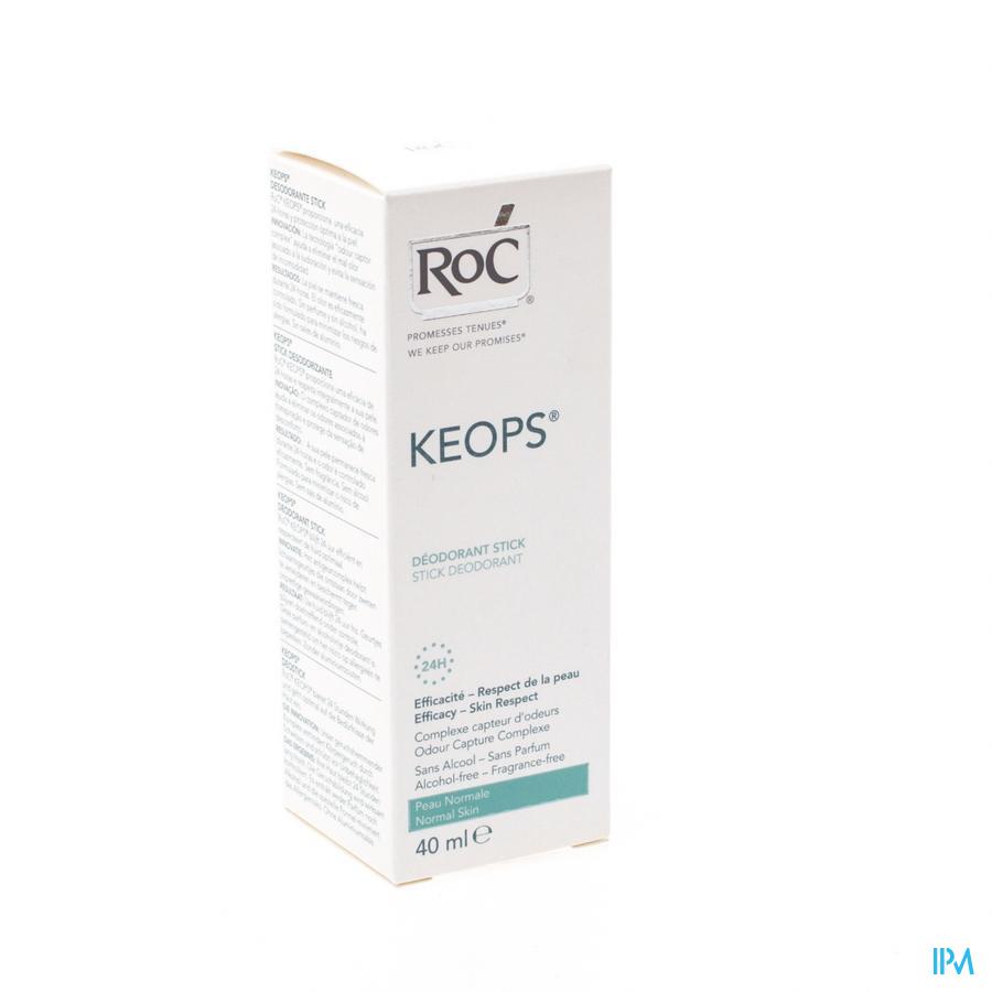 Roc Keops Deo Stick Z/alchohol Z/parf Norm/h 40ml