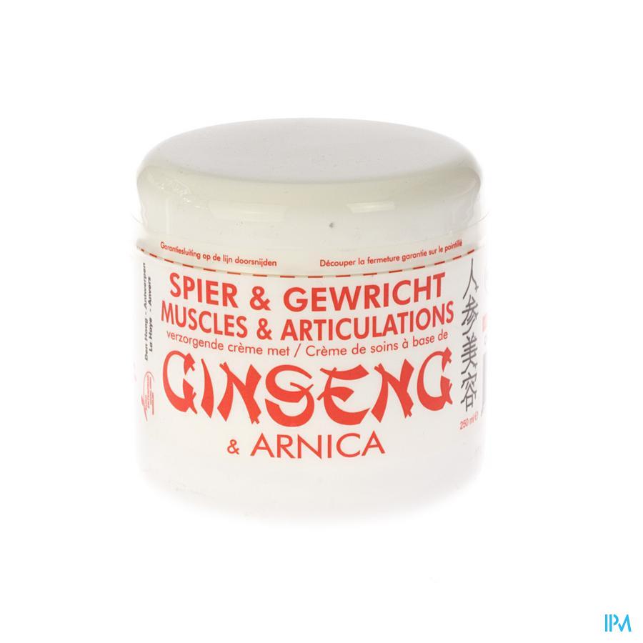 Jia-wei-ginseng Cr Verzorg+arnica Spier-gewr.250ml