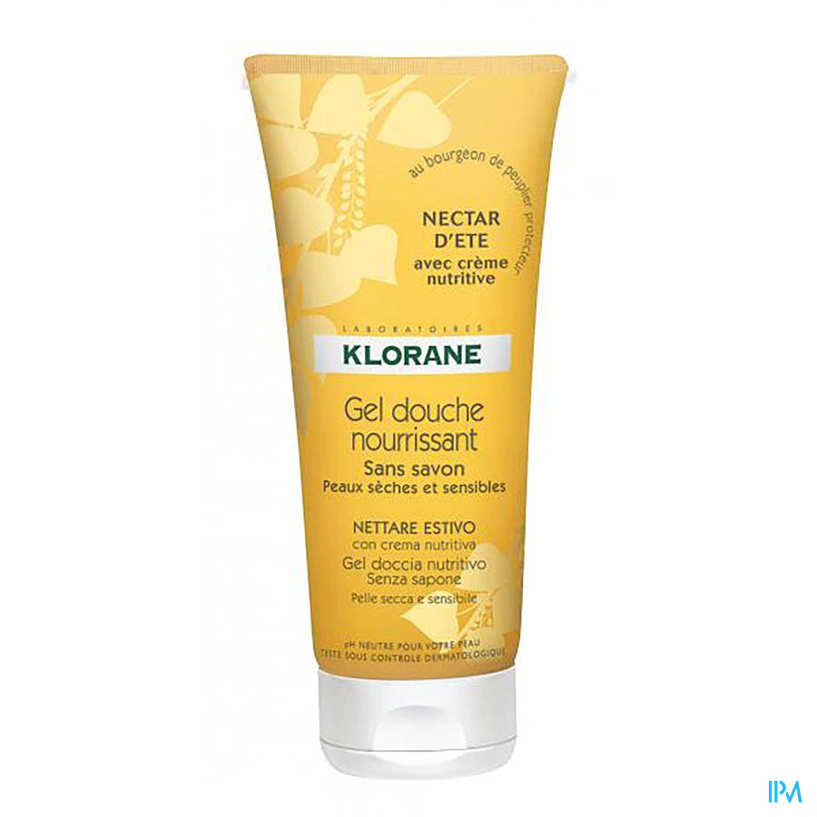 Klorane Douchegel Zomernectar Tube 200ml