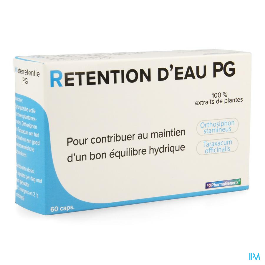 Retention D'eau Pg Pharmagenerix Caps 60