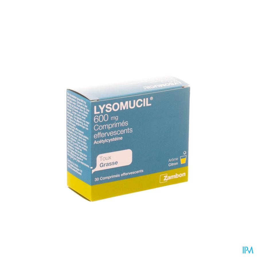 Lysomucil 600 Bruistabletten 30 X 600 mg