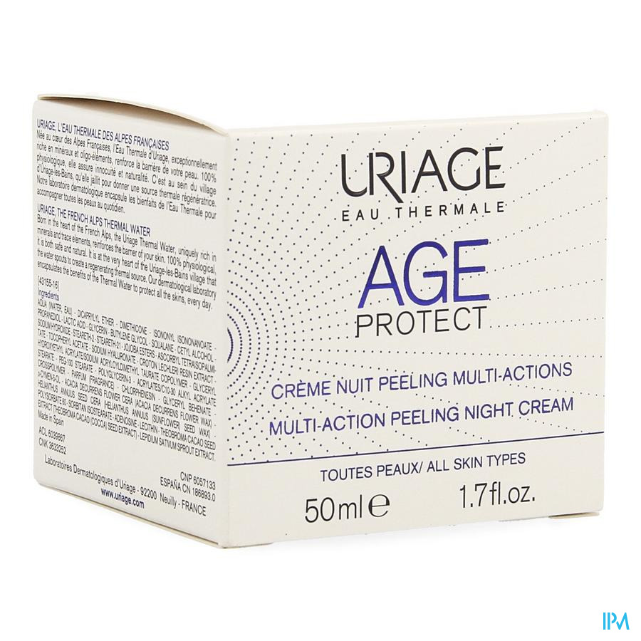Uriage Age Protect Cr Nuit Peel.multi-actions 50ml
