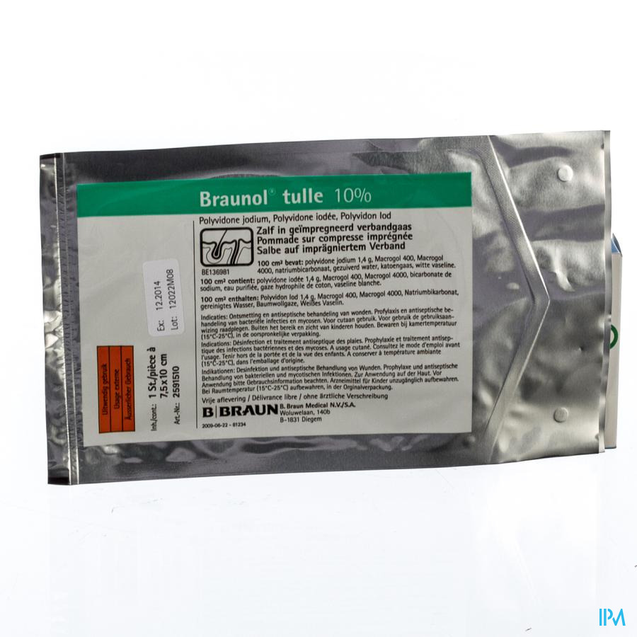 BRAUNOL TULLE 7,5 X 10 CM -  1
