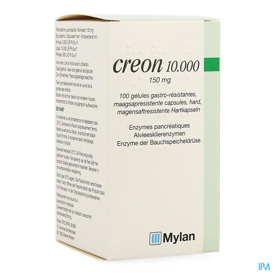 Creon 10000 Caps Gastroresist 100 X 150mg
