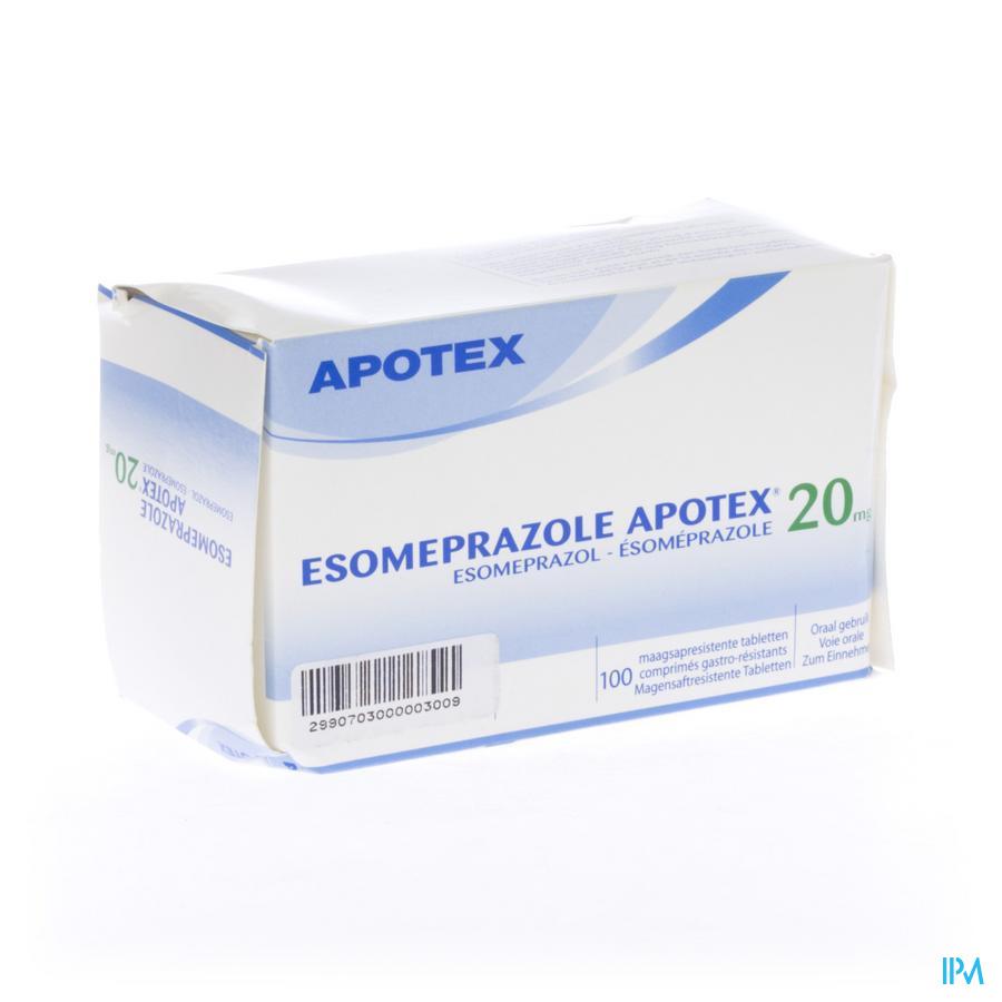 Esomeprazole 20mg Apotex Comp Gastro Resist 100