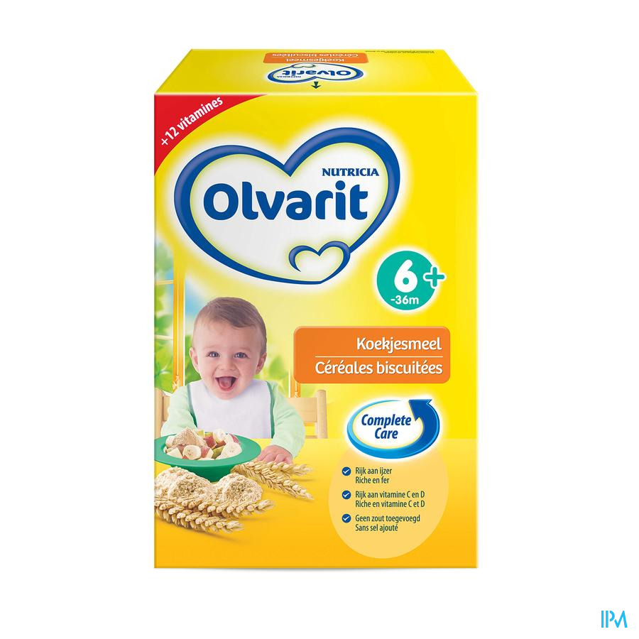 Olvarit Cereales Biscuitees 6m 2x300g