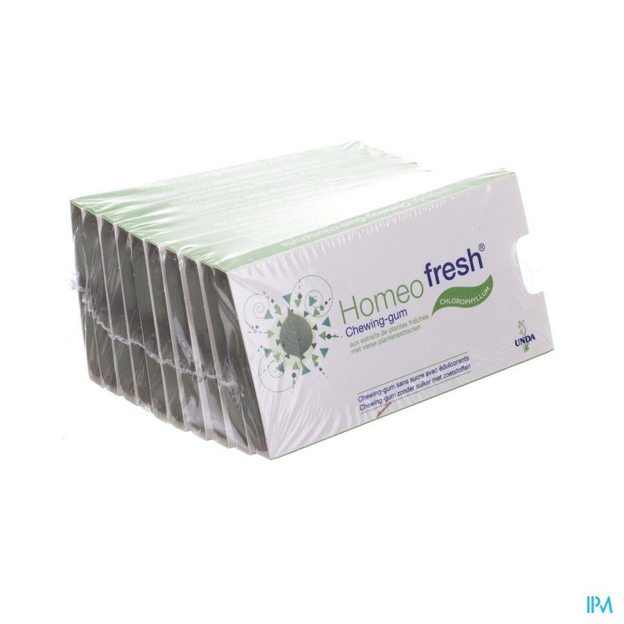 Homeofresh Chew-gum Bioactivum Chloroph. Ss 10x12
