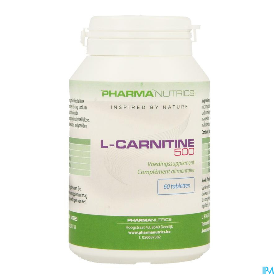 l Carnitine 500 Comp 60 Pharmanutrics
