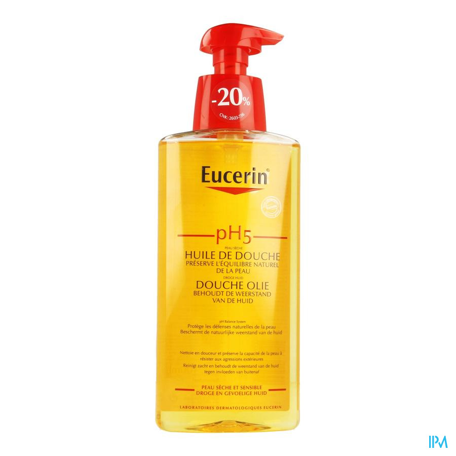 Eucerin Ph5 Douche Olie Met Pomp 400ml -20%