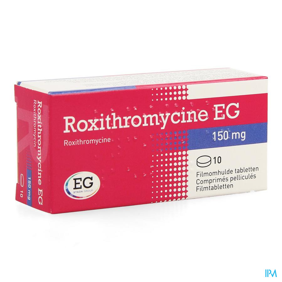 Roxithromycine Eg Comp 10 X 150mg