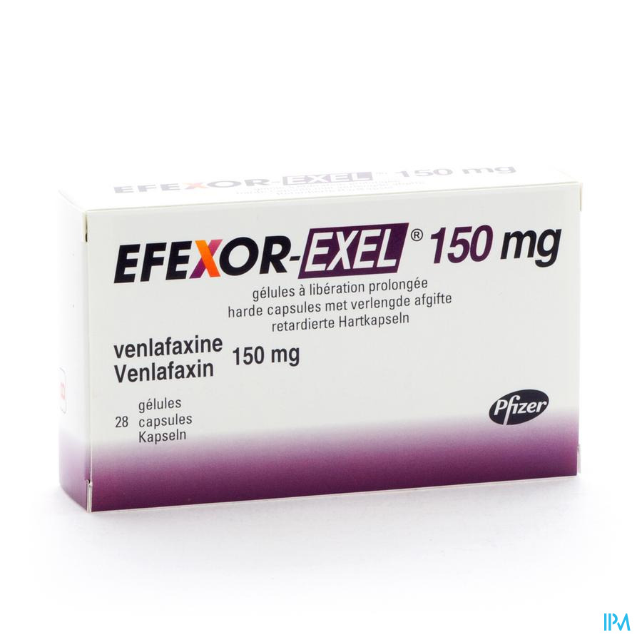 Efexor Exel 150mg Caps Liberation Prolong 28