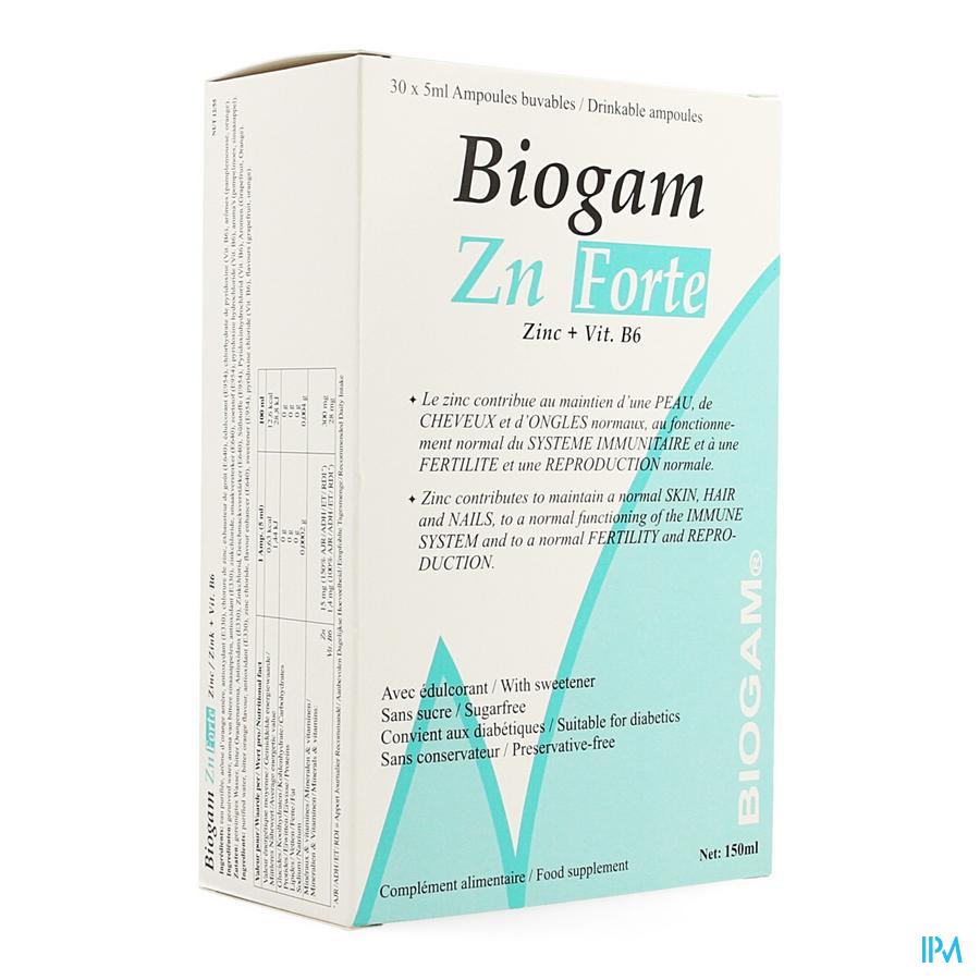 Biogam Zn Forte Drinkb. Amp 30x5ml