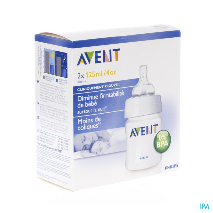AVENT ZUIGFLES BPA-VRIJ POLYPROPYL.2X125ML