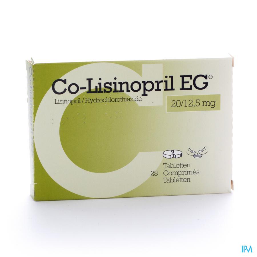 Co Lisinopril Eg 20/12,5mg Tabl 28