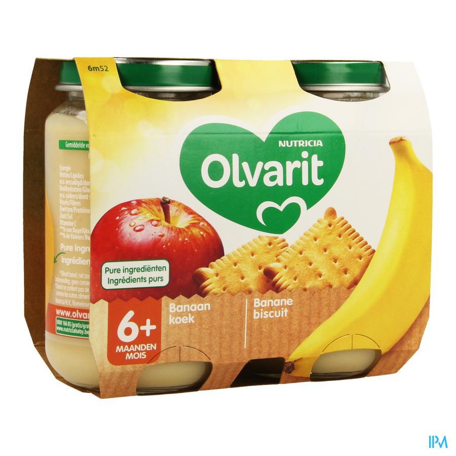Olvarit Banane Biscuit 2x200g 6m52