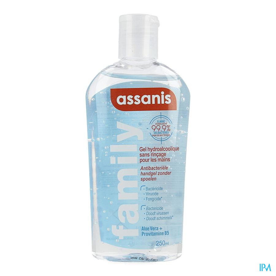 Assanis Hydro Alcoholische Gel Flip Top 250ml