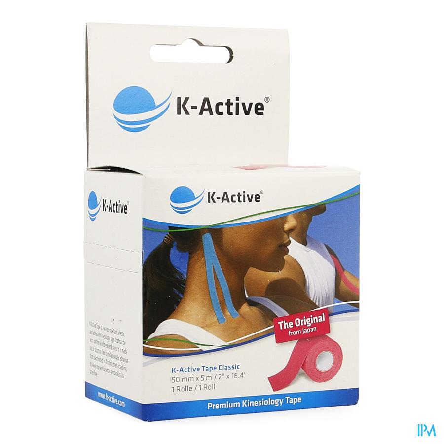 K-active Tape Roos 5,0cmx5m kopen doe je voordelig hier