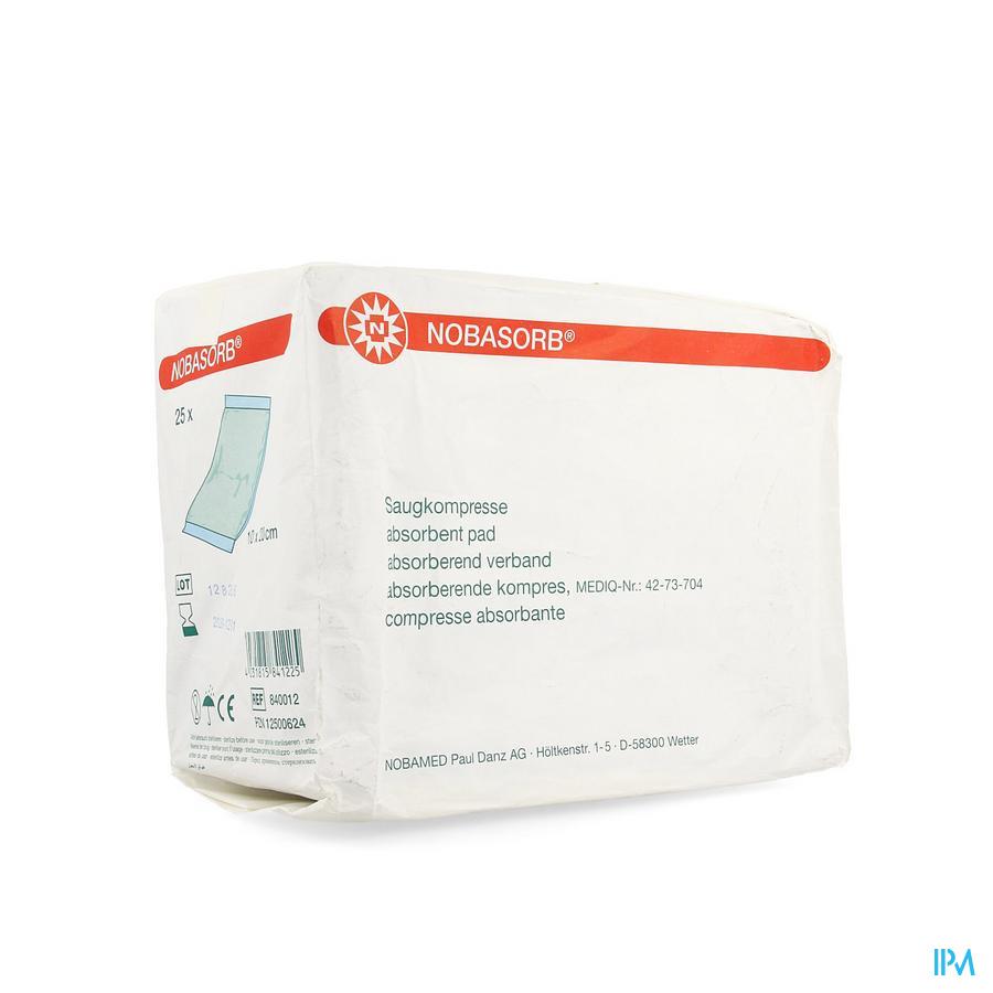 Noba Absorbent Pad N/ster 10cmx20cm 25 9340925