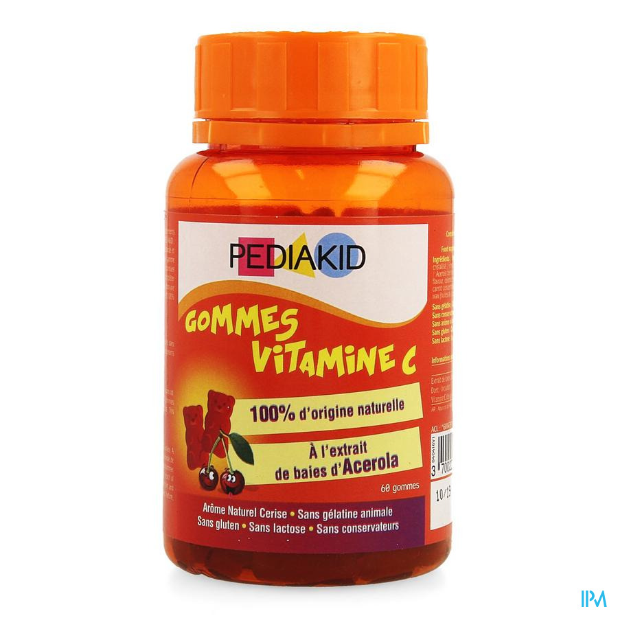 Pediakid Gummes Vitamines C Gommes A Macher 60
