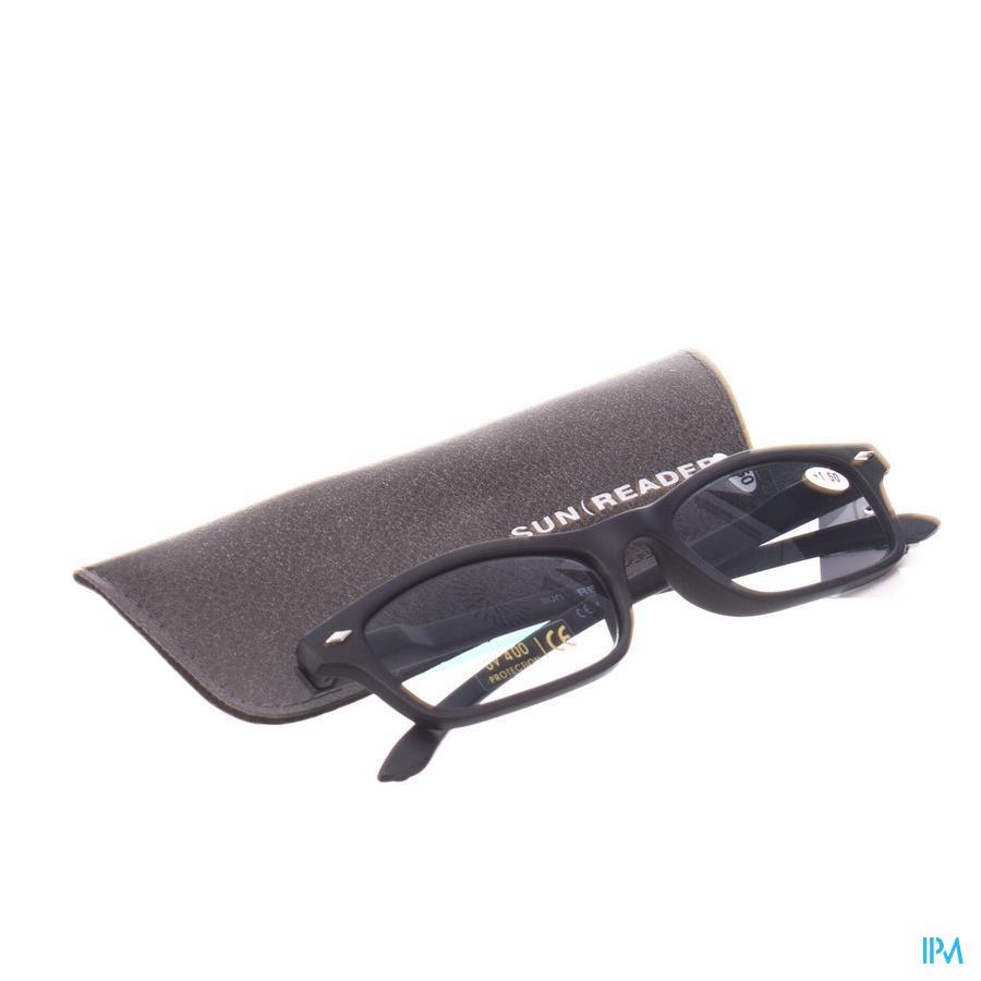 Sunreader Zonneleesbril +1.50 Black