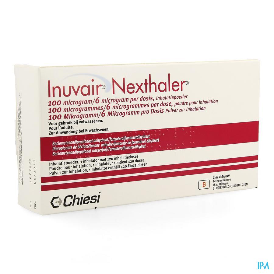 Inuvair 100/6mcg Nexthaler Doses 1x120