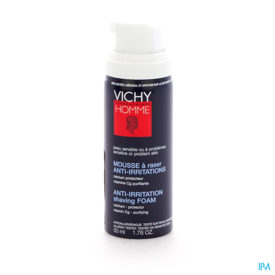 VICHY HOMME SCHEERSCHUIM ANTI IRRIT. TRAVEL 50ML