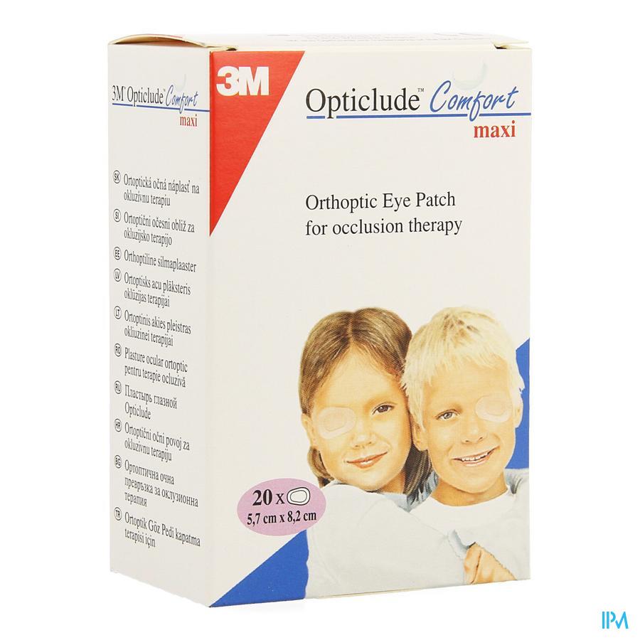 Opticlude 3m Comfort Maxi 5,7cmx 8cm 20 1648e