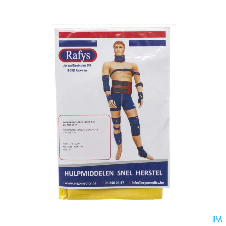 Rafys Theraband 5m Light Geel 2091