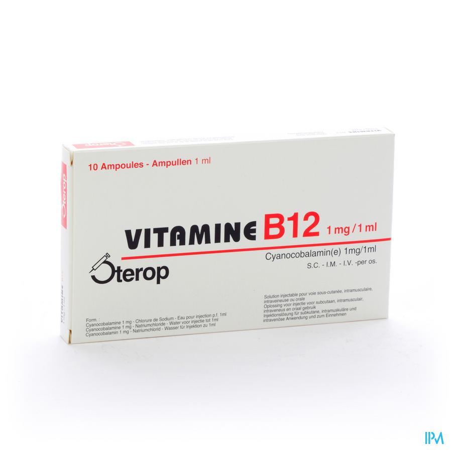 Vit B12 Sc/im/iv Ampullen 10 X 1 mg/1ml  -  Sterop