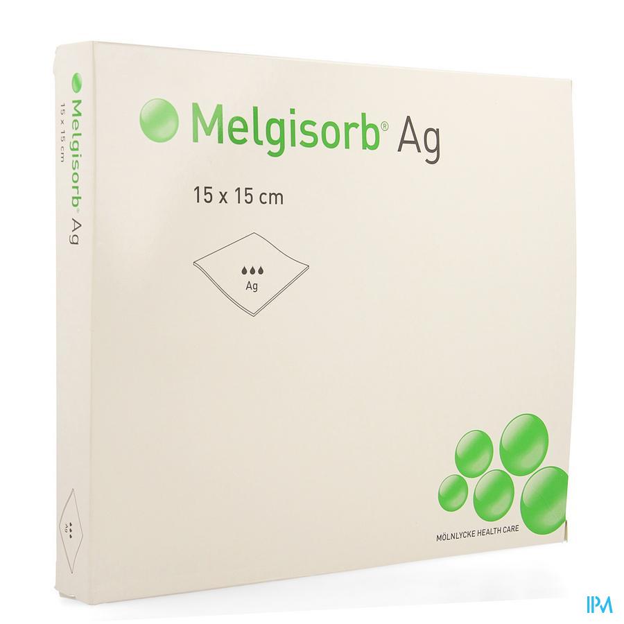 Melgisorb Ag Kp Ster 15x15cm 10 256150