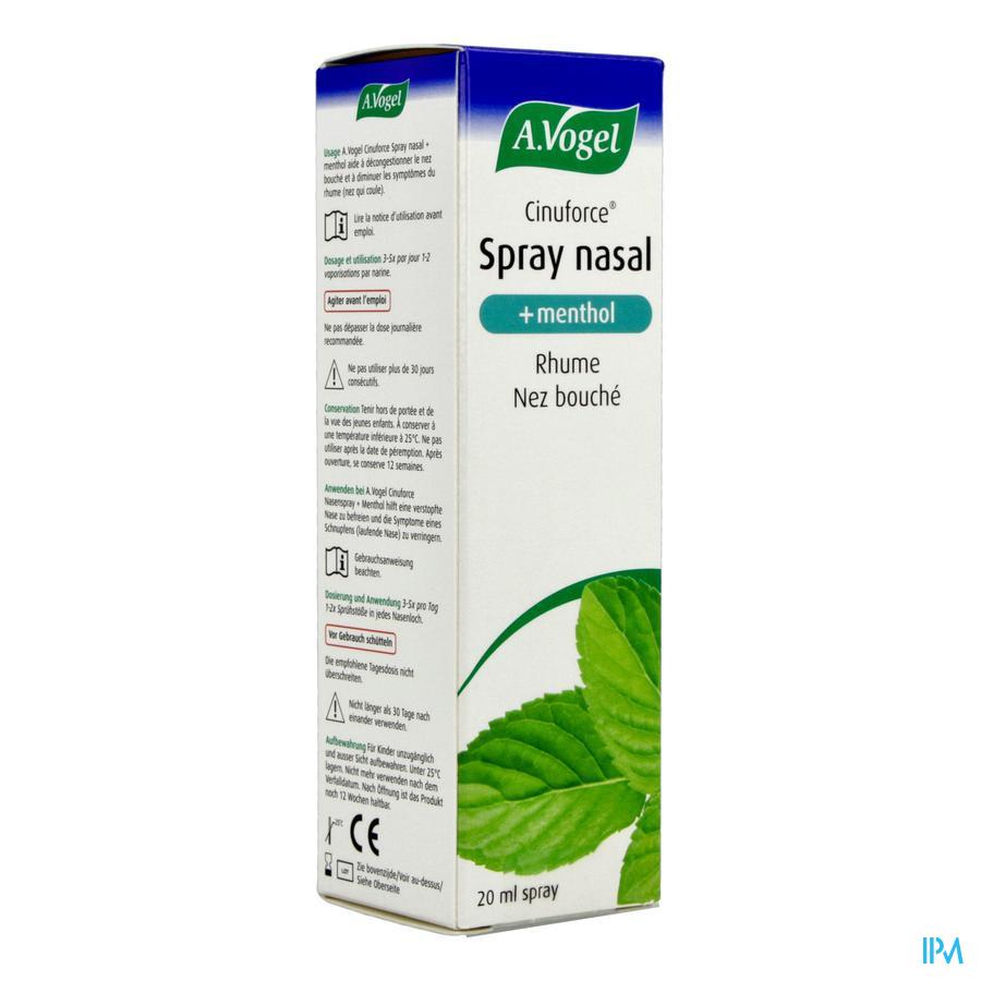 A.Vogel Cinuforce Spray nasal menthol 20ml