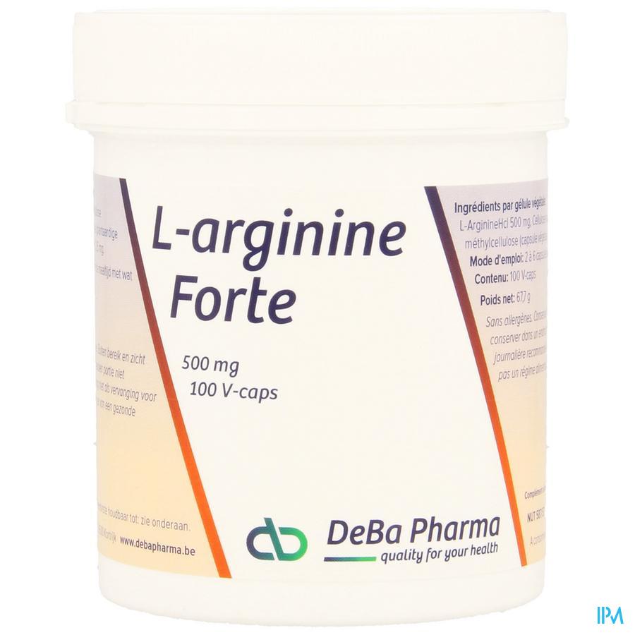 l-arginine Caps 100x500mg Deba
