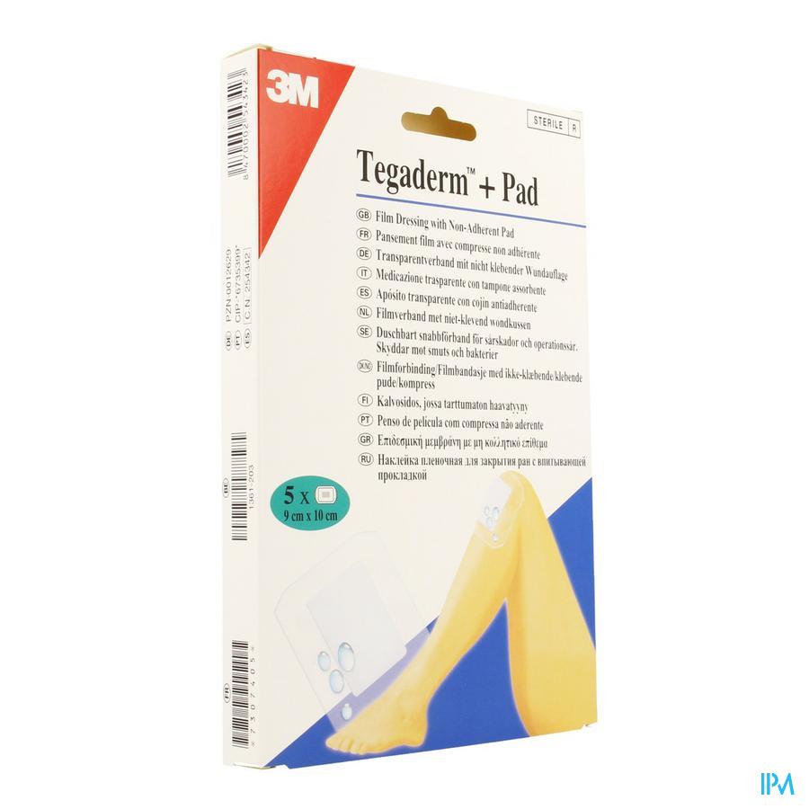 Tegaderm + Pad - Pansement Transparent Avec Compresse Absorbante 9cm X 10cm