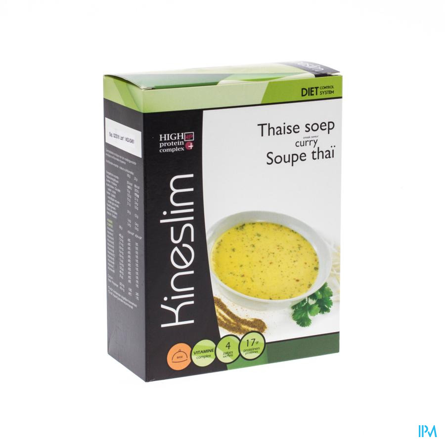 Kineslim Thaise Currysoep Pdr 4x25g